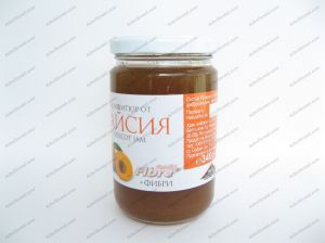 Apricot jam with fructose + 340 grams fiber.