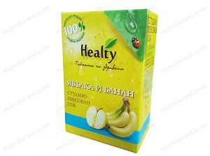 HEALTY - cold-pressed APPLE AND BANANA juice - 3L, 750mL, 300mL